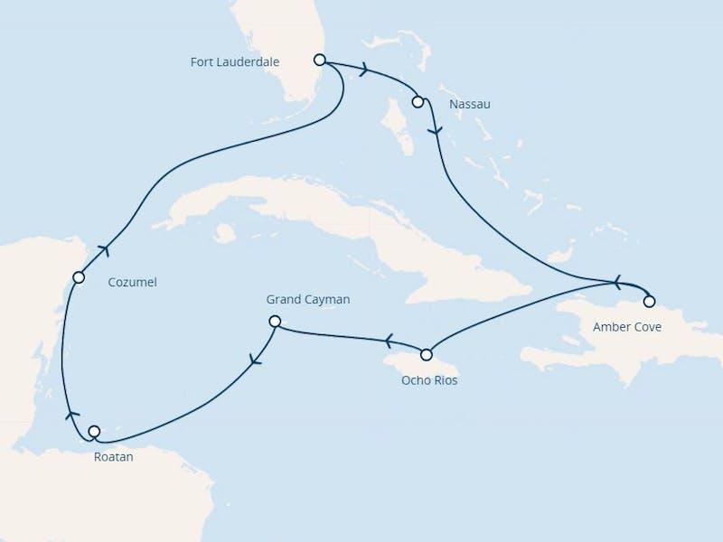 Florida, Bahamas, Jamaika, Cayman Inseln, Honduras, Mexiko