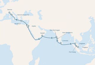 Singapur, Malaysia, Sri Lanka, Indien, Oman, Jordanien, Griechenland, Italien