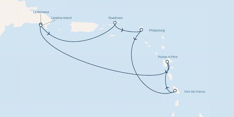Antillen, Dominik. Republik, Jungferninseln