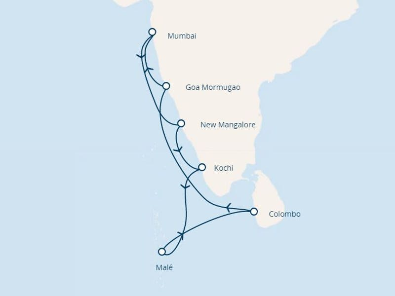 Indien, Malediven, Sri Lanka