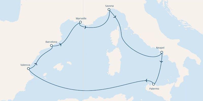 Italien, Spanien, Frankreich