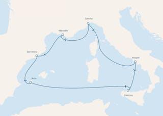 Italien, Balearen (spanien), Spanien, Frankreich