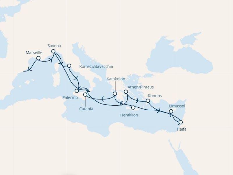 Spanien, Frankreich, Italien, Griechenland, Zypern