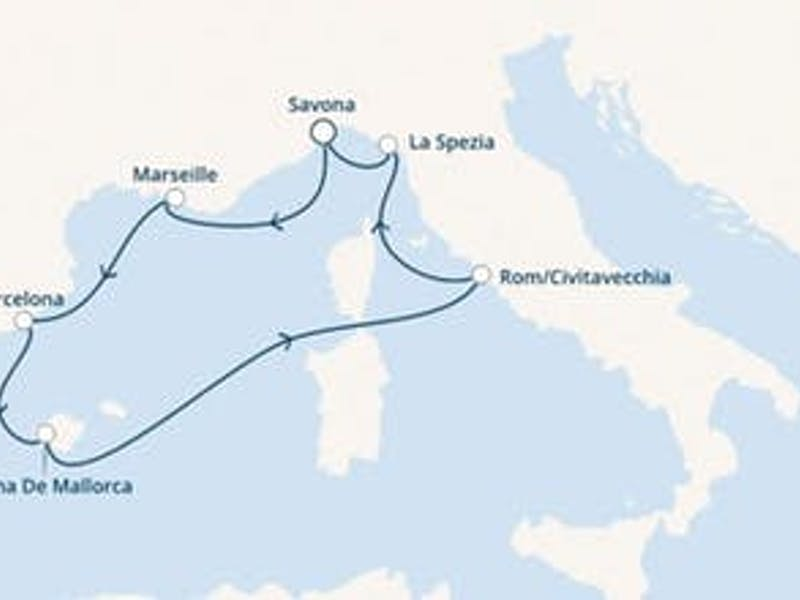 Spanien, Balearen (Spanien), Italien, Frankreich