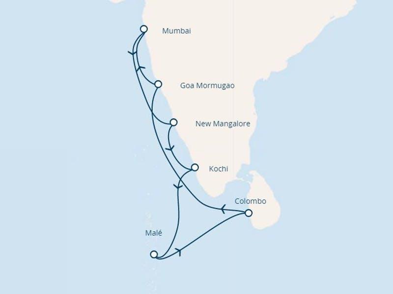 Malediven, Sri Lanka, Indien