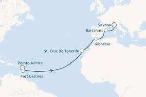 Große Kreuzfahrt ab Pointe-a-pitre