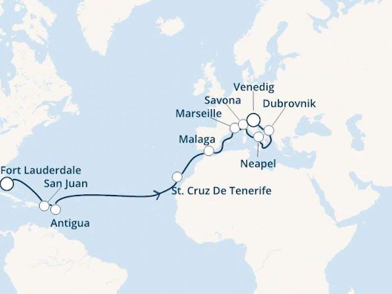 Florida, Puerto Rico, Antillen, Kanaren (Spanien), Spanien, Frankreich, Italien, Kroatien