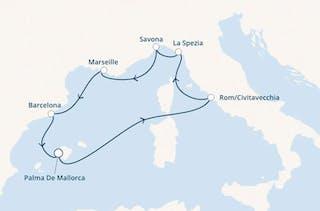 Westliches Mittelmeer mit Costa Smeralda