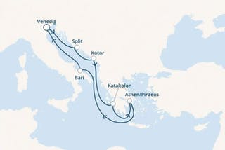 Italien, Kroatien, Montenegro, Griechenland