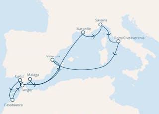 Italien, Spanien, Marokko, Frankreich