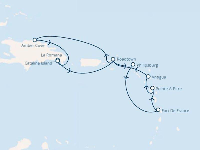 Dominik. Republik, Jungferninseln, Antillen