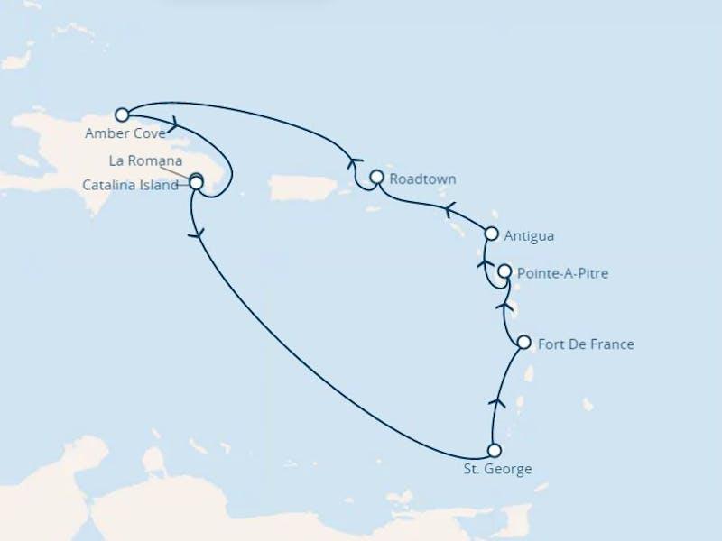Antillen, Jungferninseln, Dominik. Republik