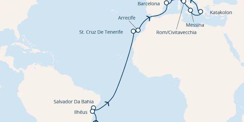 Brasilien, Kanaren (spanien), Spanien, Frankreich, Italien, Griechenland
