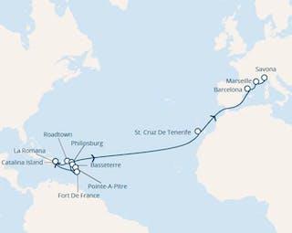 Antillen, Dominik. Republik, Jungferninseln, Kanaren (spanien), Spanien, Frankreich, Italien
