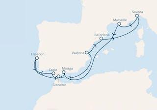 Spanien, Italien, Frankreich, Portugal, Gibraltar (großbritannien)
