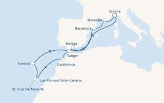 Italien, Frankreich, Spanien, Marokko, Kanaren (spanien), Madeira